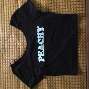 H&M Tops - PEACHY Black Crop Top